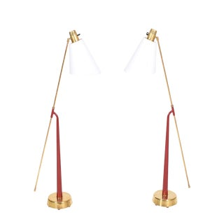 Pair of Floor Lamps by Hans Bergstrom for Ateljé Lyktan