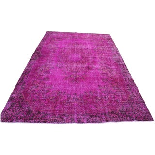 "Turkish Pink Overdyed Rug - 6′4″ × 9′11"""
