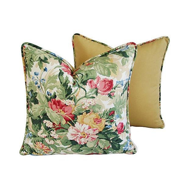 Custom P. Kaufmann Floral Bouquet Pillows - Pair - Image 6 of 8