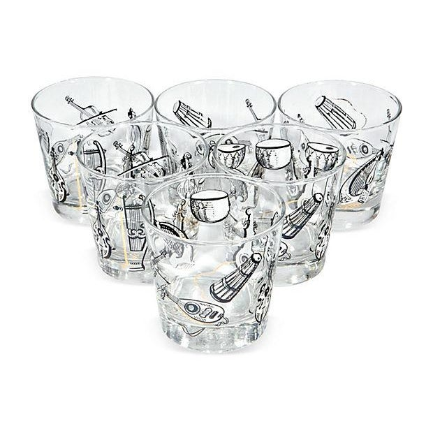 Image of 60s Musical Glass Tumblers - Set of 6