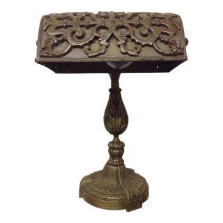 19th Century Bronze Piano Lamp