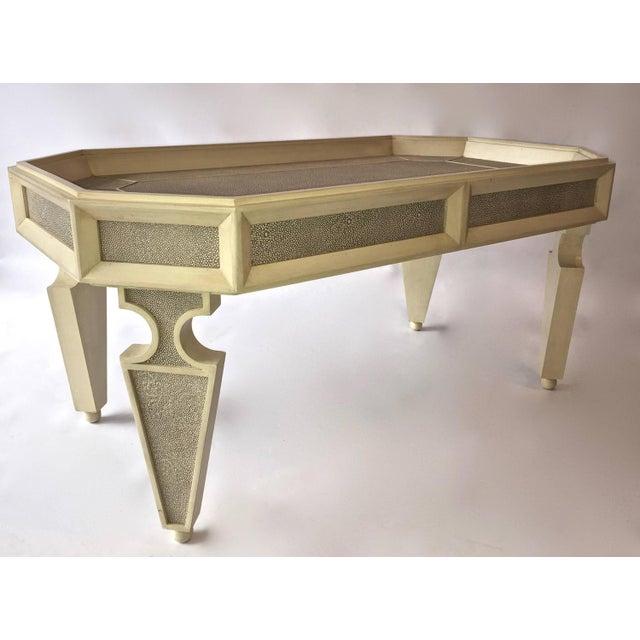 shagreen coffee table chairish