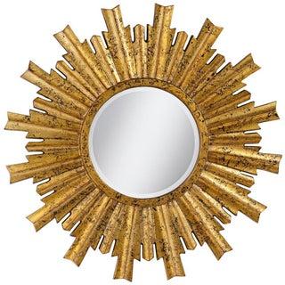 Large Sunburst Gold Mirror