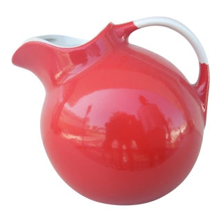 Hall Pottery Chinese Red Ice Tea Jug