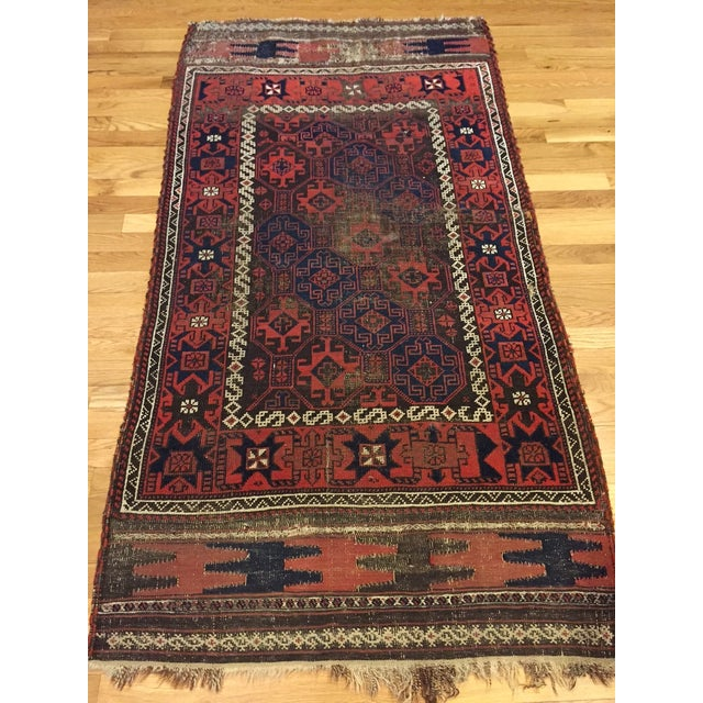 "Vintage Tribal Persian Rug - 3' x 5'10"" - Image 7 of 7"