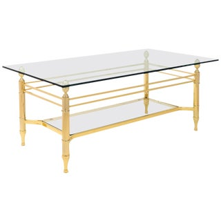 Vintage Maison Bagues Gilt Brass Coffee Table