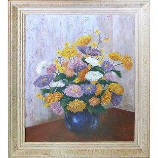 Susan K. Clarke Mums Oil Painting