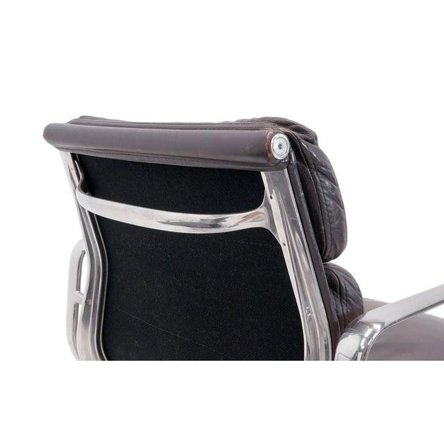Eames for Herman Miller Leather Soft Pad Aluminum Group Armchairs buy any number - Image 9 of 10