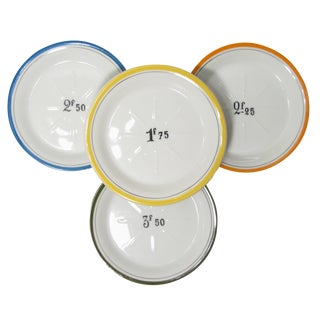 French Bistro Change Plates, Set of 4