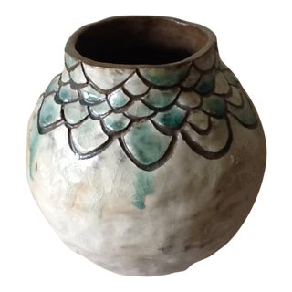 Fish Scale Studio Pottery Vase