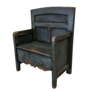 Antique Painted Bishop's Chair