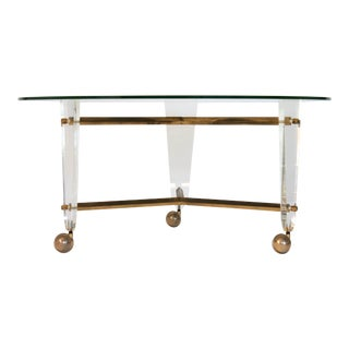 Brass & Lucite Coffee Table