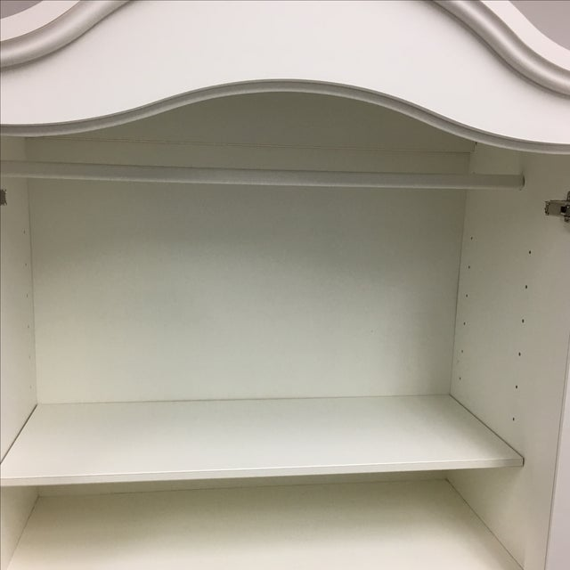 White Cottage Style Armoire - Image 7 of 8