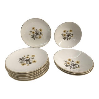 "Knowles ""Sun Light"" Dessert Plates - Set of 11"