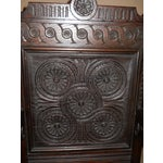 Image of Jacobean Carved Oak Dining Chairs - Set of 8