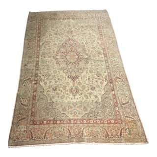 "Bellwether Rugs Antique Turkish Oushak Rug, Circa 1920's- 3'8"" X 6'3"""