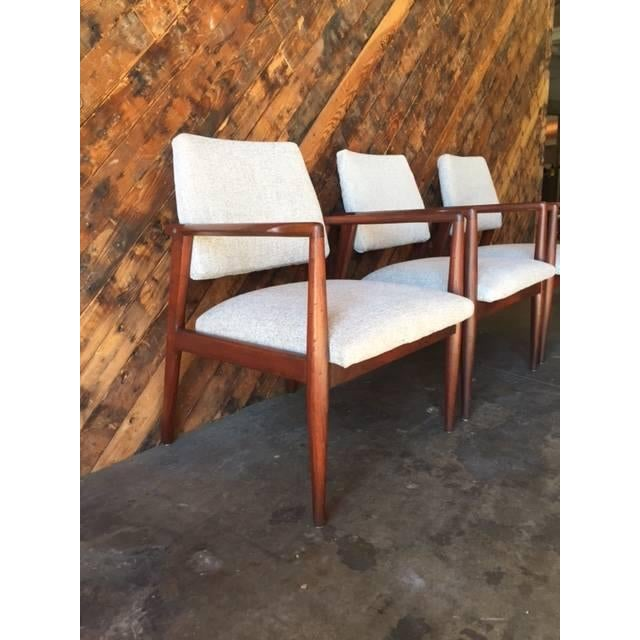 Mid-Century Danish Walnut Sculpted Arm Chair - Image 7 of 9
