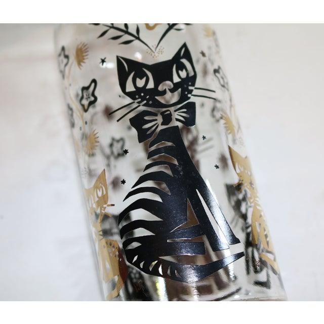 Image of Black & Gold Cat Vase Bottle