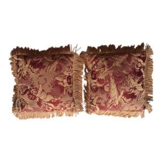 Vintage Colony Reed Cherub Pillows - A Pair