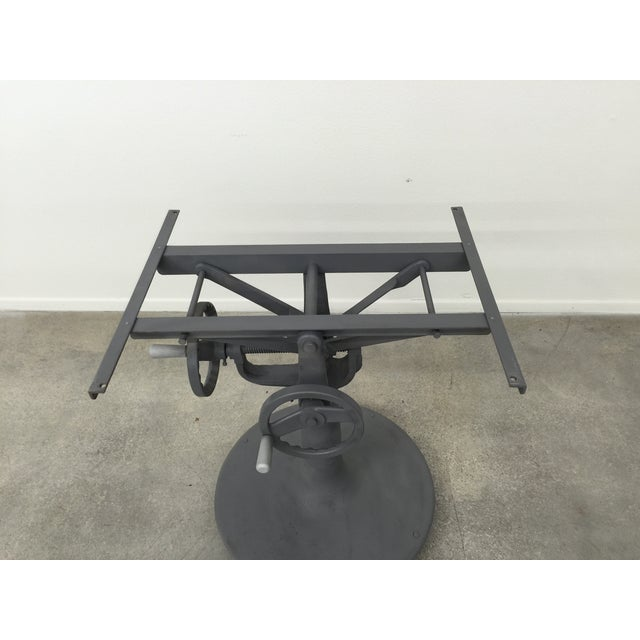 Industrial Crank Table With Zinc Top - Image 8 of 8