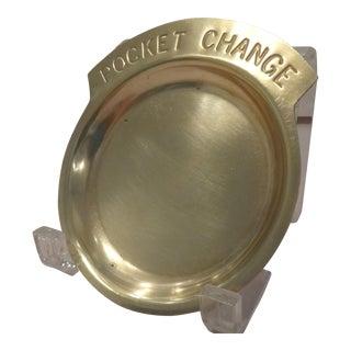 "Brass ""Pocket Change"" Dish"