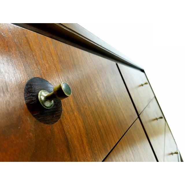 Mid Century Modern Walnut Six Drawer Dresser - Image 4 of 4