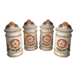 Vintage Shabby Chic Salt & Pepper Shakers