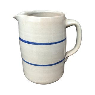 Folk Blue And White Tabletop Pitcher