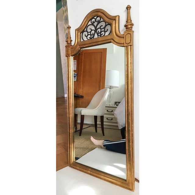 Vintage Italian Gilded Wood & Iron Mirror - Image 5 of 11