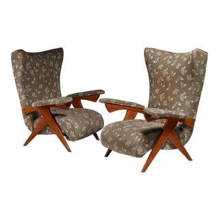 Jose Zanine Caldas pair of Cuca lounge chairs, Brazil, 1950s