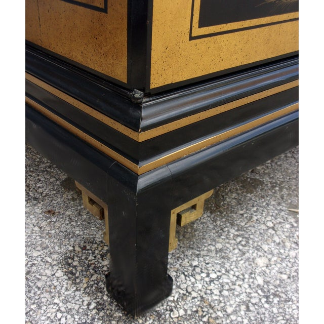 Vintage Asian Style Cabinet With Brass Hardware - Image 6 of 11