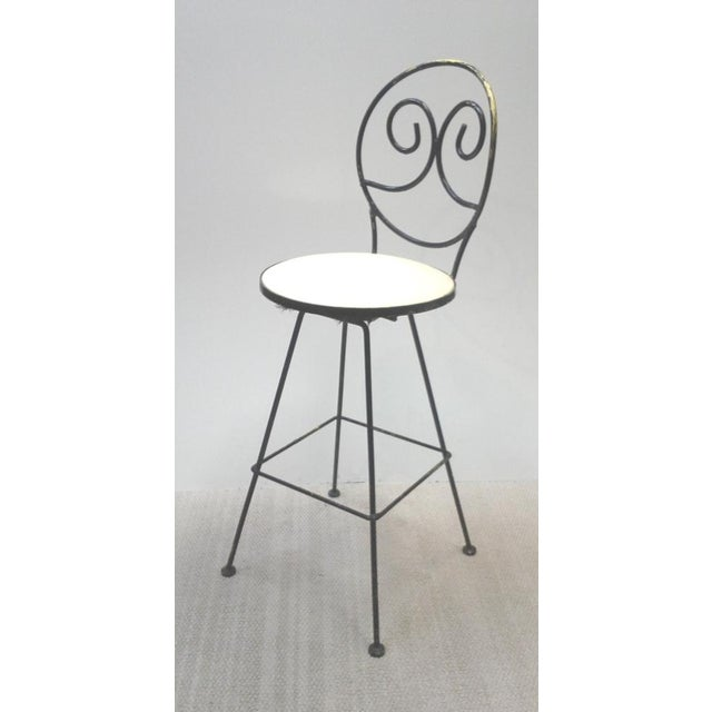 Woodard Scrolled Back Iron Bar Stools - A Pair - Image 2 of 7