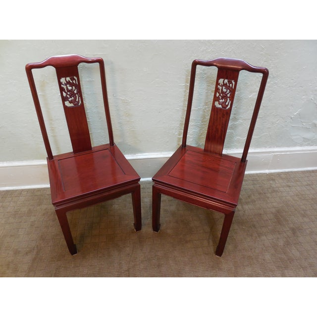 Chinese Rosewood Oriental Style Dining Chairs - 10 - Image 2 of 10
