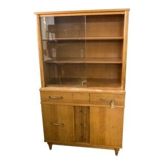 Vintage Mid-Century Modern China Storage Cabinet