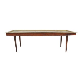 Mid-Century Brass Top Coffee Table