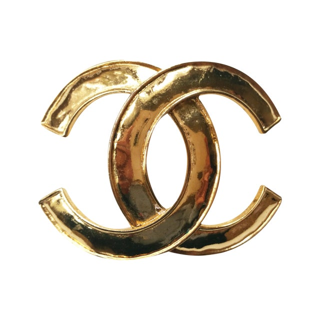 Image of Authentic Vintage Chanel Large Gold Brooch