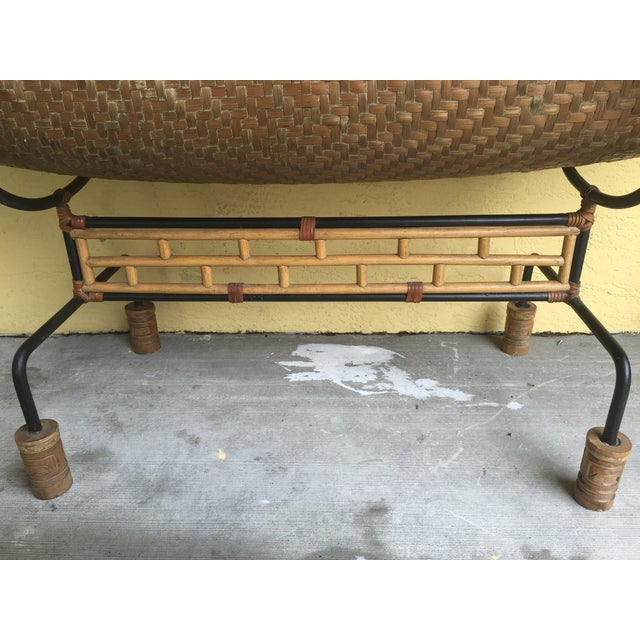 Vintage Pacific Style Rattan Console - Image 11 of 11