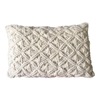 Wool Handwovem Macrame Pillow