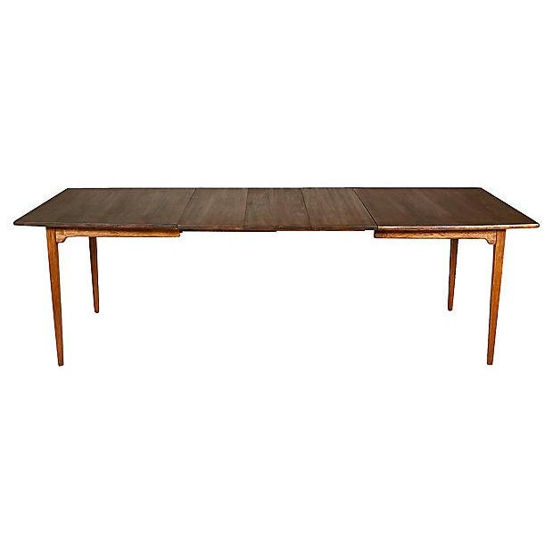 1960s Walnut Expandable Dining Table - Image 2 of 7