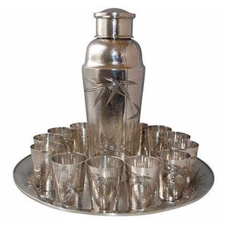 15-Piece Sterling Silver Bamboo Cocktail Set