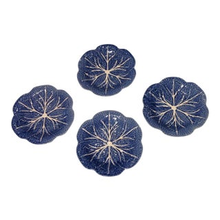 Portuguese Blue Cabbage Plates - Set of 4
