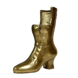 Vintage Ladies Brass Boot