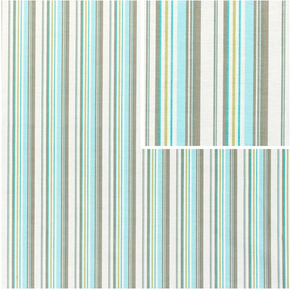 Image of Amy Butler Happy Stripe Grey Fabic - 120 Yards