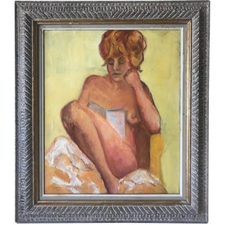 Caroline Newhouse Nude Female Oil Painting, 1951