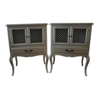 Vintage French Provincial Nightstands - Pair