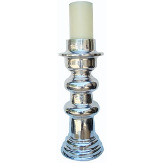 X-Large Polished Aluminum Candle Holder