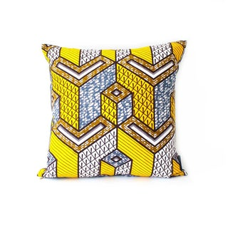 African Square N'djamena Pillow Cover