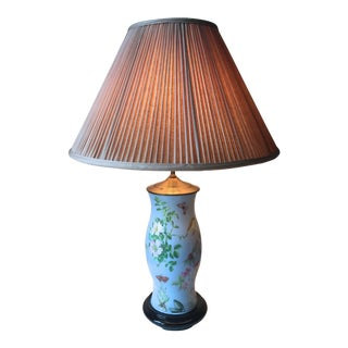Chinoiserie Decalcomania Glass Table Lamp