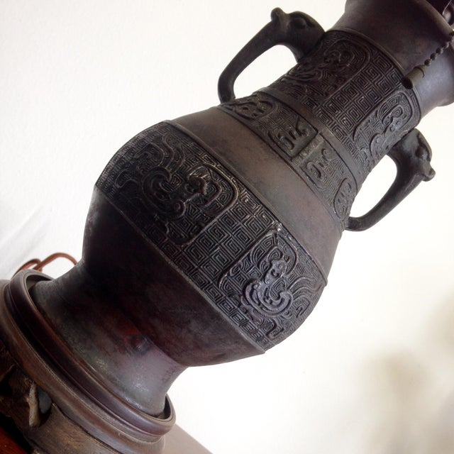 Antique Japanese Lamp - Image 6 of 6