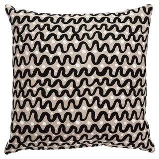 Kate Spade Black & Tan Waves Pillow